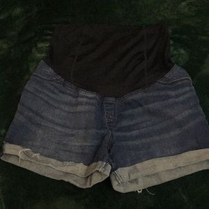 Size 10 Maternity Jean Shorts